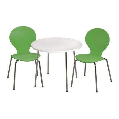 Mack & Milo Adelaide Kids 3 Piece Writing Table and Chair Set Color: Green