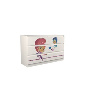 Ginger 6 Drawer Double Dresser By Zoomie Kids