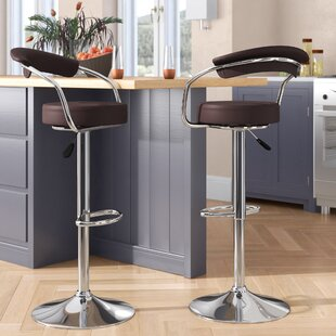 Adjustable Height Swivel Metal Bar Stool ..
