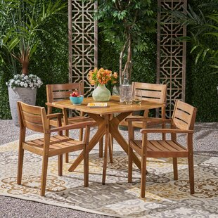 Chlo? 5 Piece Dining Set by Wrought Studio