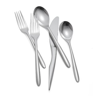 Dune Setting 5-Piece 18/10 Stainless Steel Flatware Set, Service for 1