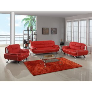 Larrabee Luxury 3-Piece Living Room Set (Set of 3) ByLatitude Run