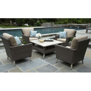 Boswell 5 Piece Sunbrella Sofa Set with Cushions (Set of 5)