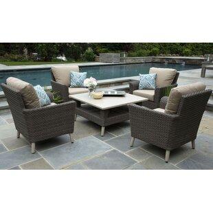 Boswell 5 Piece Sunbrella Sofa Set with Cushions (Set of 5)