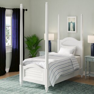 Palmview Twin Four Poster Bed by Harriet Bee Find