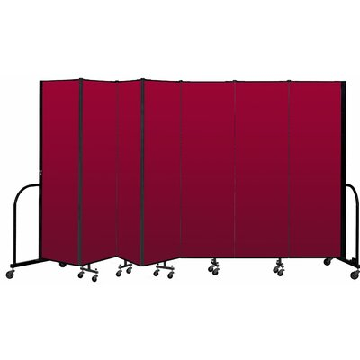 Freestanding 7 Panel Room Divider ScreenFlex Color: Primary Red, Height: 80""