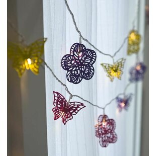 HearthSong 20-Light 5 ft. Butterflies and Flowers String Lights