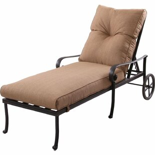 K&B Patio Santa Anita Chaise Lounge with Cushions