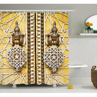 Retro African Morrocan Forms Single Shower Curtain
