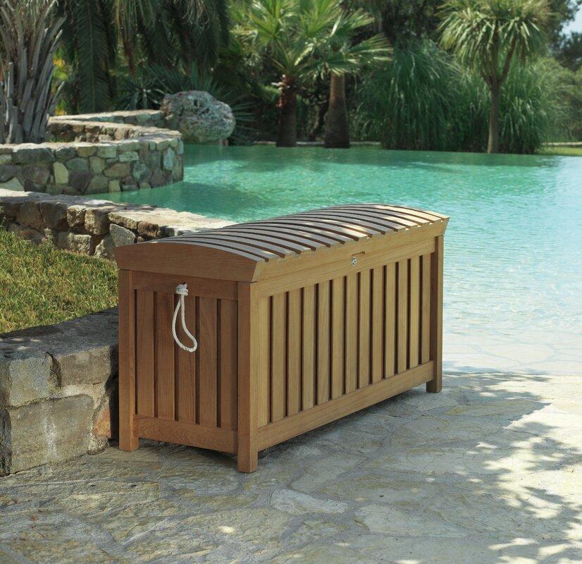 Les Jardins Saqqarah 120 Gallon Teak Deck Box