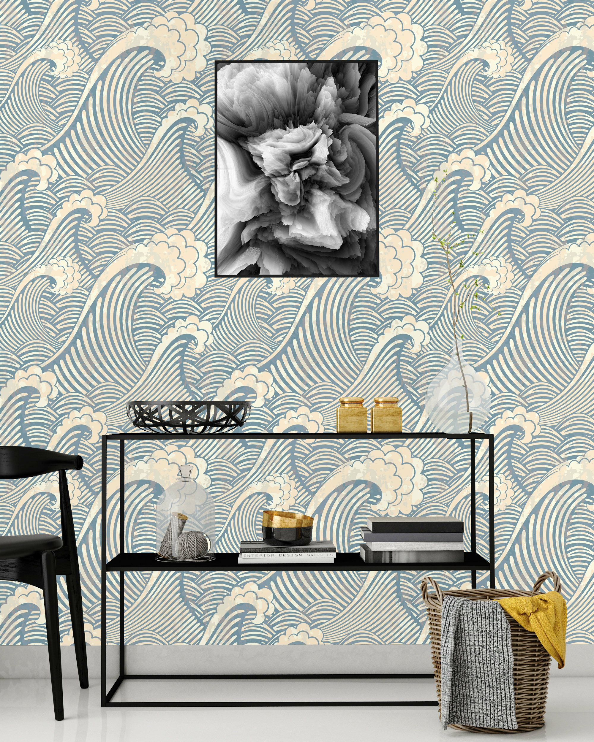 World Menagerie Poway Cute Waves Peel And Stick Wallpaper Panel Wayfair