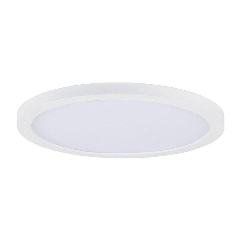 Ebern Designs Albertia 1 Light 7 Simple Circle Led Flush Mount Wayfair