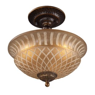 Antioch 3-Light Semi Flush Mount by Fleur De Lis Living