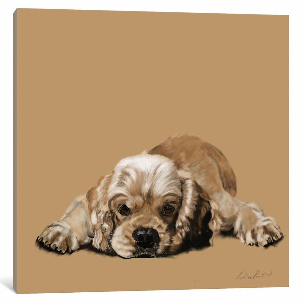 "Matted Cocker Spaniel /""Rules/"" Dog Art Print"