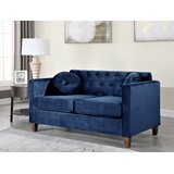 Persaud 47.5 Velvet Square Arms Loveseat by Mercer41