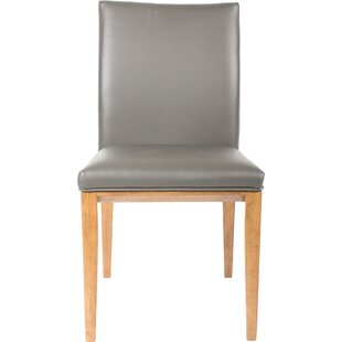Fort Worth Genuine Leather Upholstered Dining Chair (Set of 2)