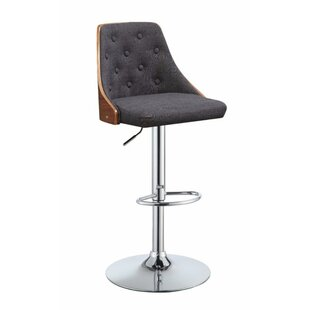Camden Astonishing Adjustable Height Swivel Bar Stool by George Oliver Sale