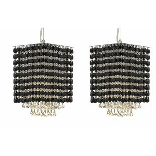 Everly Quinn Borrego 1-Light Rectangular Crystal Pendant (Set of 2)