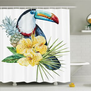Tropical Toucan Bird Exotic Shower Curtain Set