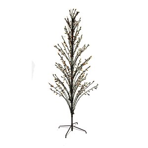 Decorative LED Lighted Halloween Cascade Twig Tree Outdoor Yard Ar