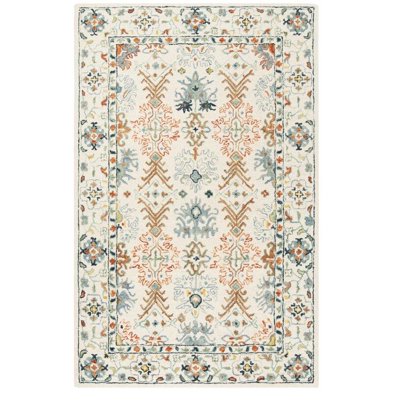 Bloomsbury Market Garvin Hand Tufted Wool Cotton Multicolor Area Rug Reviews Wayfair