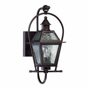 Scheuerman 1-Light Glass Shade Outdoor Wall lantern