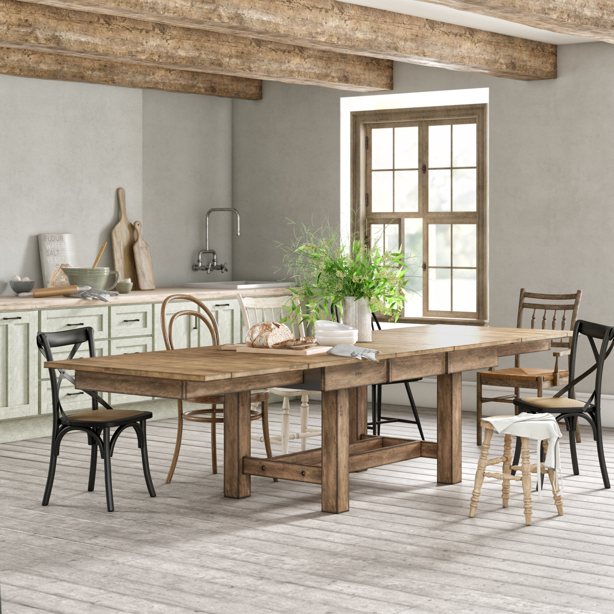 Stuart Extendable Solid Wood Dining Table Reviews Birch Lane
