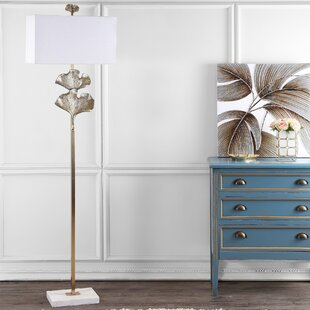 Top Brands of Raziel Ginkgo Leaf 69 LED Floor Lamp By Everly Quinn
