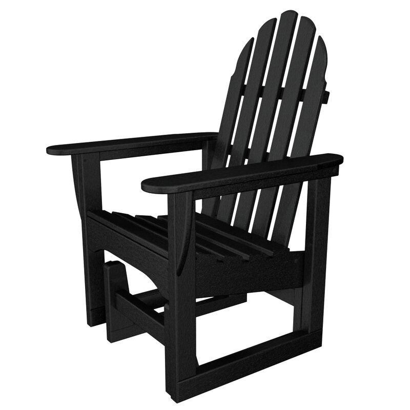 Gliding Plastic Adirondack Chair
