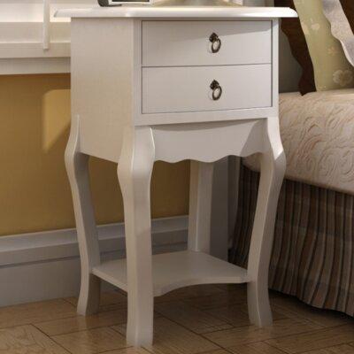 Nachttisch mit 2 Schubladen   Schlafzimmer > Nachttische   Mdf - Kiefernholz   Home Etc