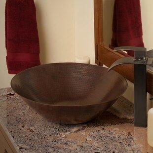 Novatto Catalonia Metal Circular Vessel Bathroom Sink