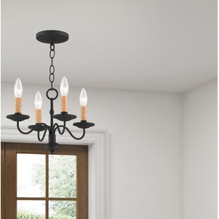 Darby Home Co Eberhart Traditional 4-Light Candle Style Chandelier