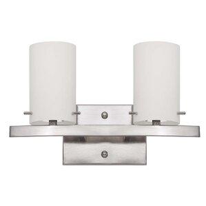 Bathroom Vanity Light Fixtures Up Or Down down glass & clear bathroom vanity lighting you'll love | wayfair