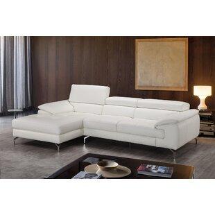 Ashwood Leather Sectional Orren Ellis Good stores for