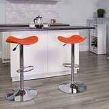 Hinrichs Swivel Adjustable Height Bar Stool by Zipcode Design™