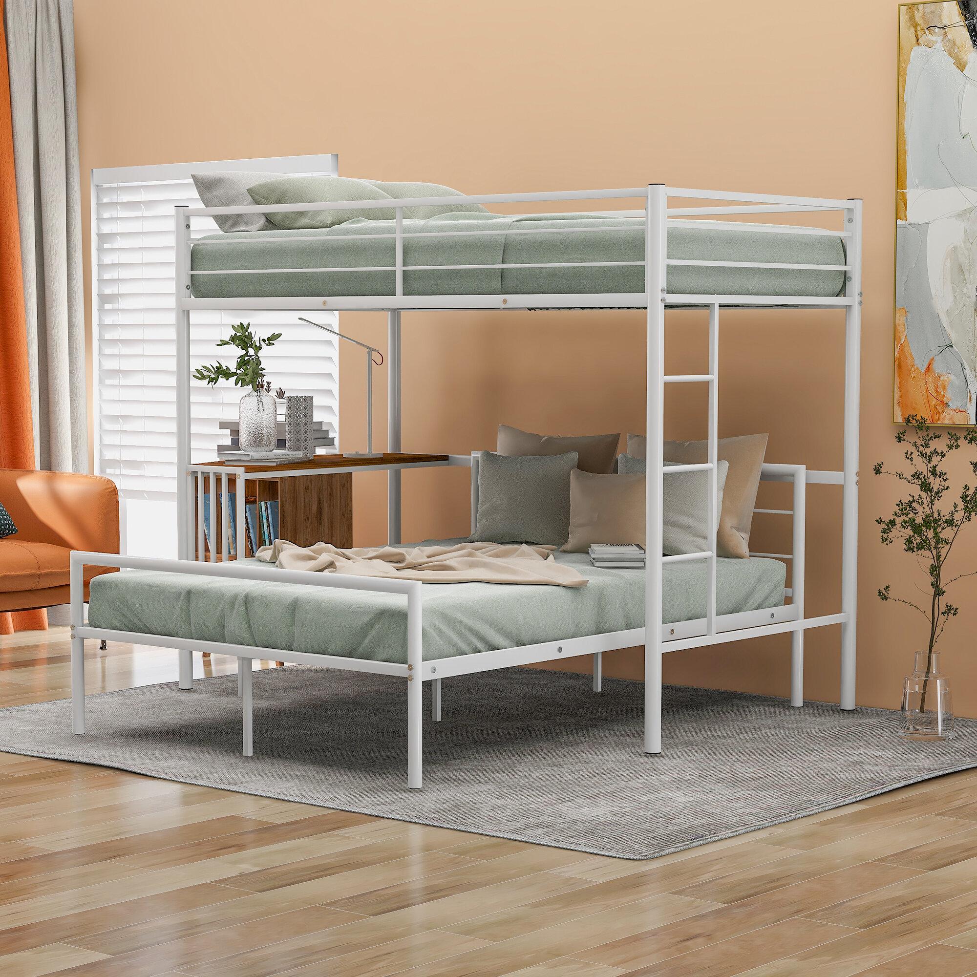 Isabelle Max Glatt Twin Over Full Bunk Bed With Desk Wayfair