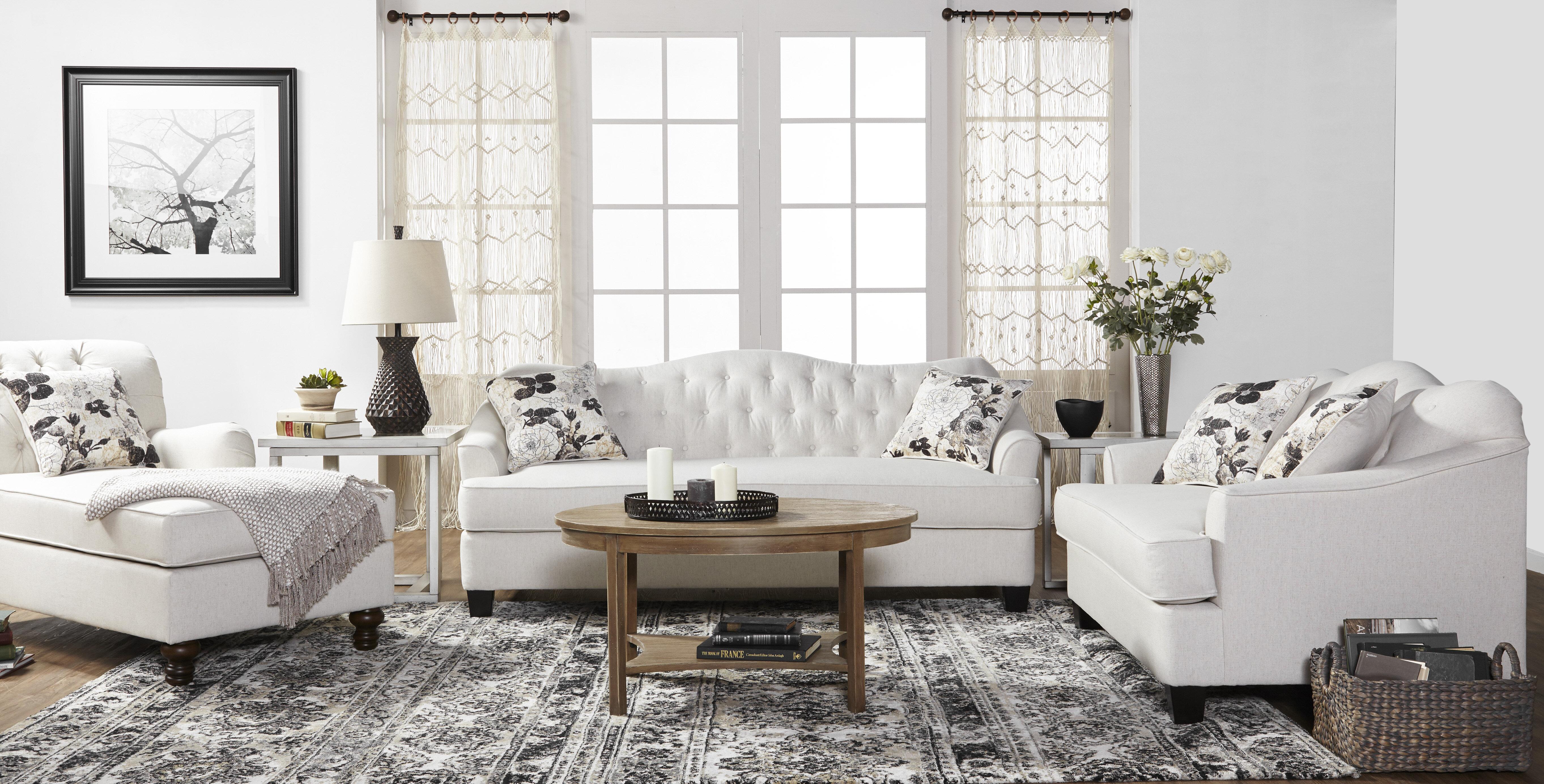 White Living Room Furniture | Wayfair