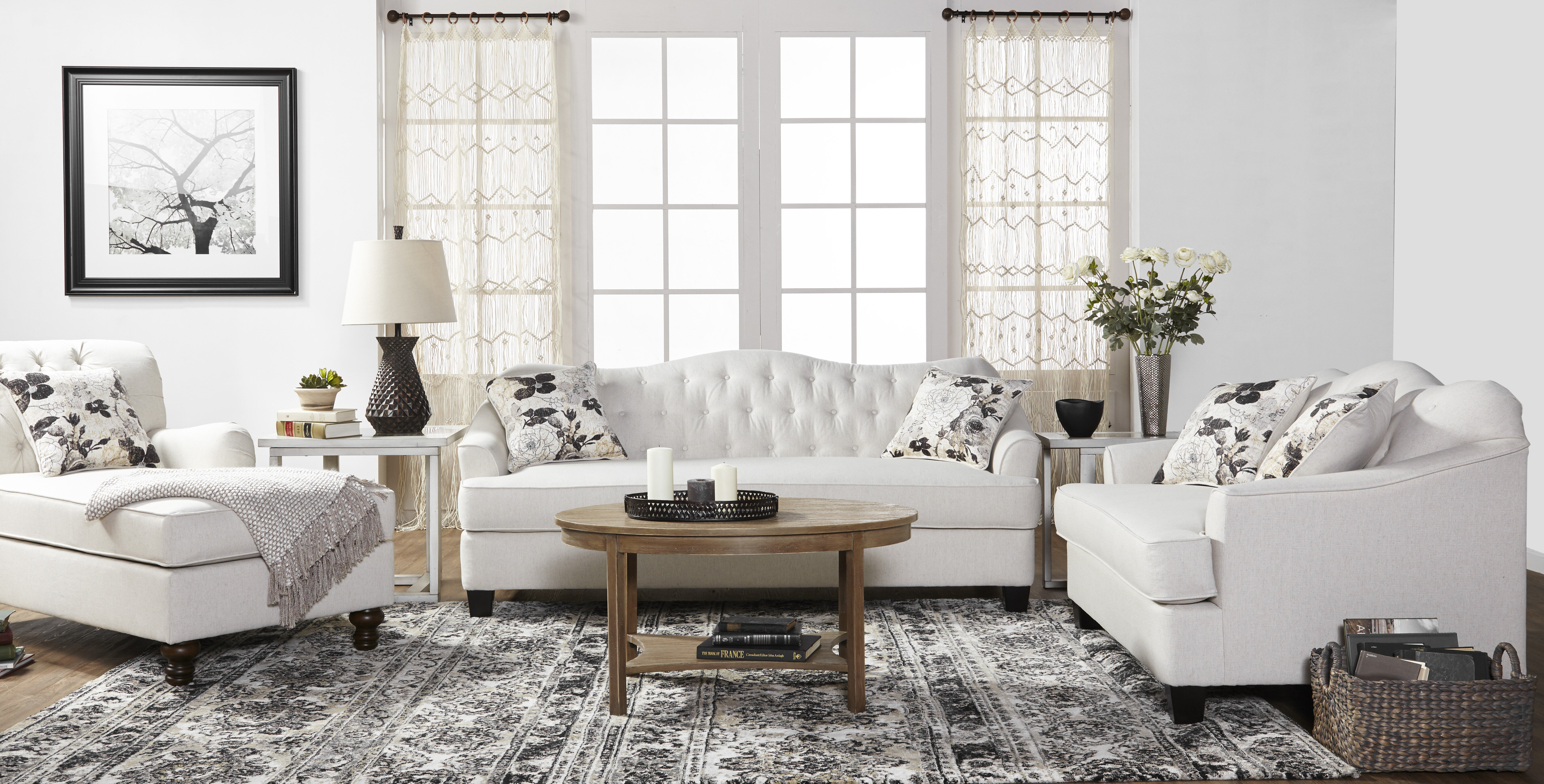 Meade configurable living room set