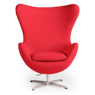 Deniela Swivel Balloon Chair and Ottoman