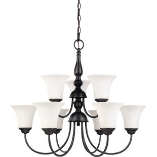 Yale 9-Light Shaded Chandelier by Charlton Home