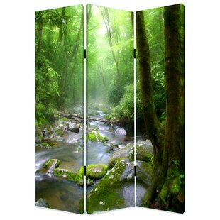 Guard Meadows and Streams 3 Panel Room Divider by Latitude Run