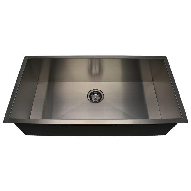 Alpha International Zero Radius 36 L X 18 W Undermount Kitchen Sink Wayfair