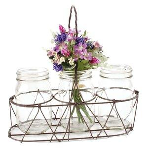 4 Piece Basket Table Vase Set