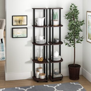 Multipurpose Display Corner Bookcase by Symple Stuff