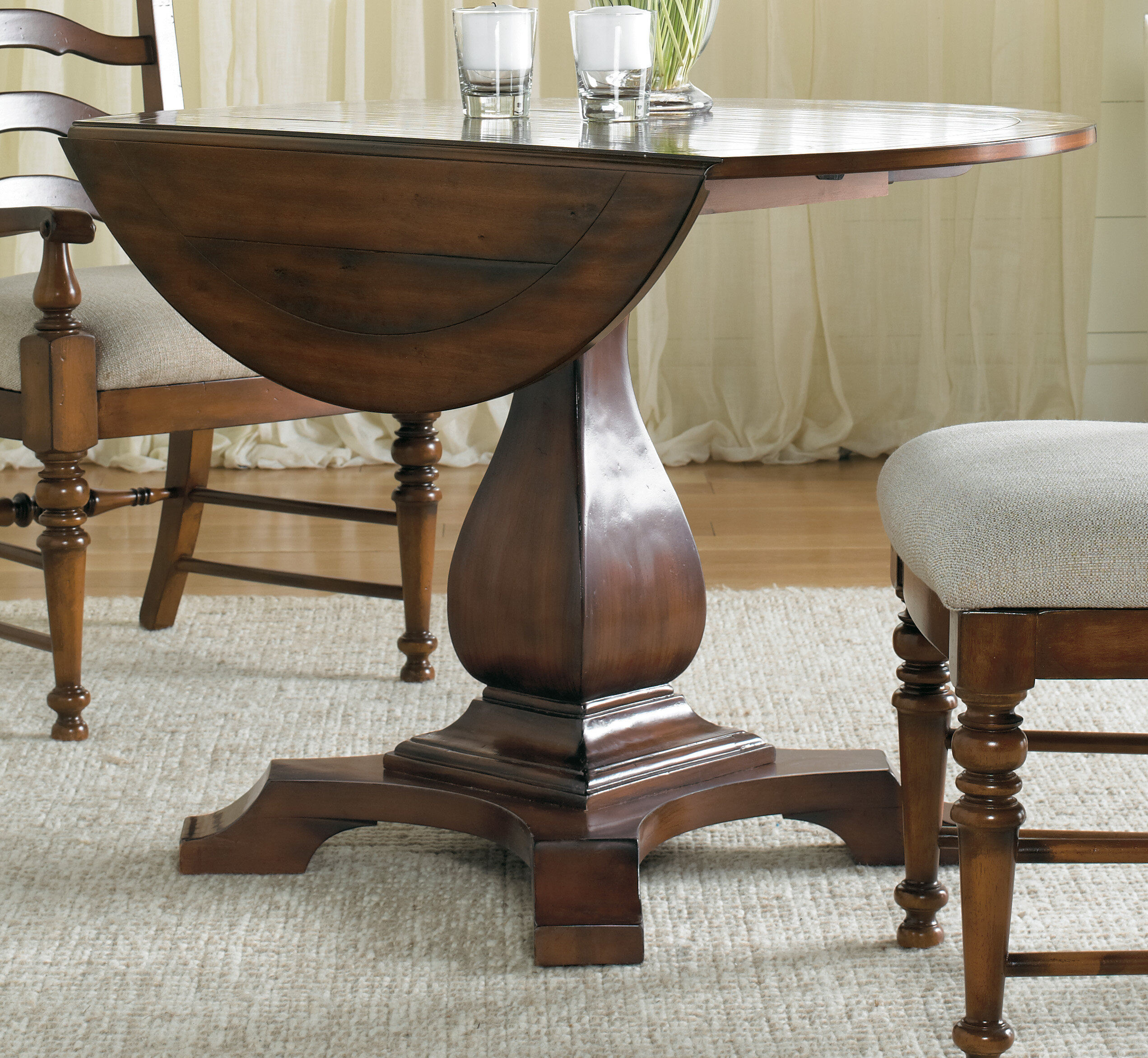 Hooker Furniture Waverly Place Round Drop Leaf Dining Table Reviews Wayfair