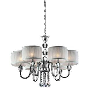 ORE Furniture Pure Essence 6-Light Shaded Chandelier
