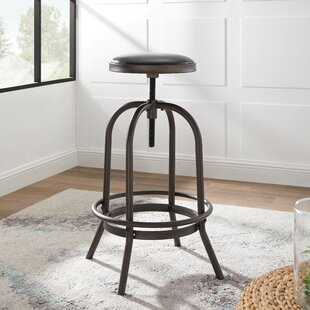 Reviews Halsted Adjustable Height Swivel Bar Stool (Set of 2) by Williston Forge Reviews (2019) & Buyer's Guide