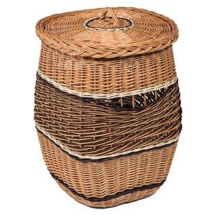 Lidded Wicker Laundry Basket By Bay Isle Home