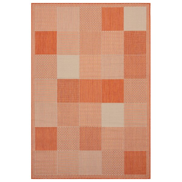 Canora Grey Purkey Geometric Terracotta Area Rug Wayfair