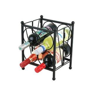 Ebern Designs Zolotas 4 Bottle Floor Wine Rack